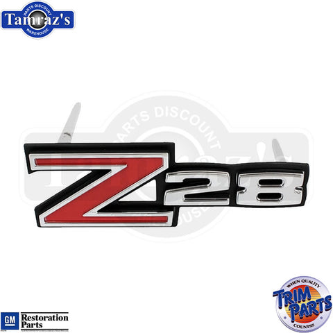 "70-71 Camaro "" Z-28 "" Front Grille Emblem w/Hardware Made in the USA"