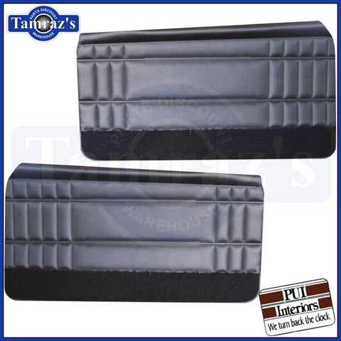 1968 Caprice Front Door Panels - Black PUI New