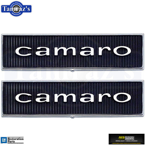 1967 Camaro Standard Door Panel 'Camaro' Emblem Pair OER 7696122 New