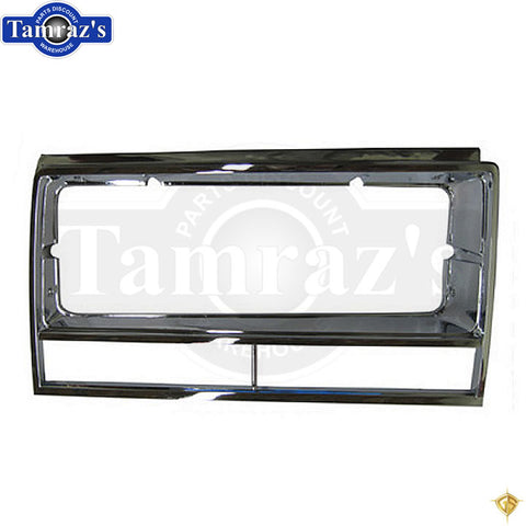 1982-1983 El Camino/Malibu Chrome Plastic Headlight Bezel Door Surround - RH