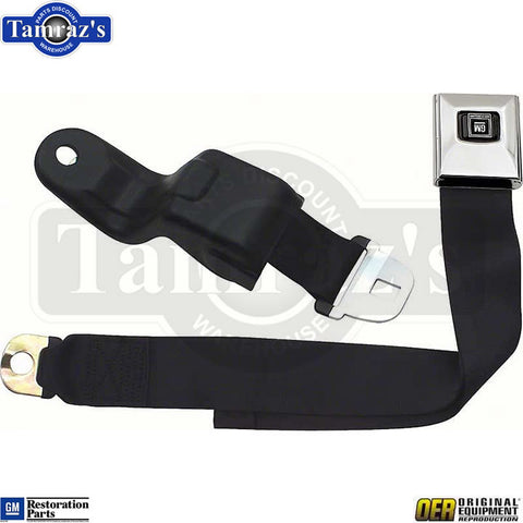 68-69 F-Body Deluxe Front Bucket Seat Belt Retractor & Buckle Set EACH - OER