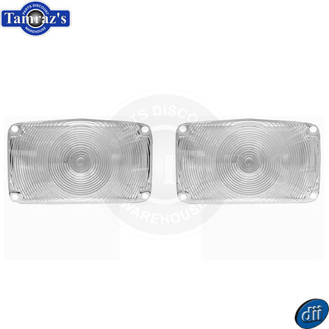 1956 Chevy Parking Turn Light Lamp Lens - CLEAR Set - Dynacorn