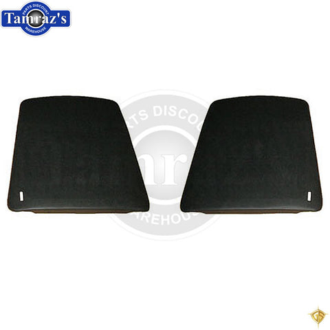 1967-1970 Camaro Firebird Bucket Seat Back Plastic Panels - Black - Golden Star