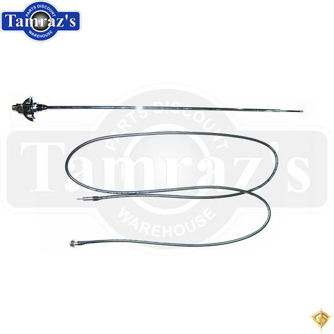 68-70 Charger ONLY  Antenna Assembly Cable Lead & Telescopic Mast & Hardware