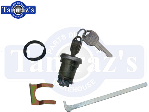 GM Buick Chevy Olds Pontiac Round Key Trunk Lock Kit - Later Key Style New 113