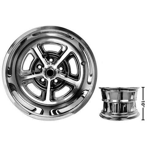 Ford Mustang MAGNUM Aluminum Alloy Wheel Coated w/ cap 15 x 10 EACH