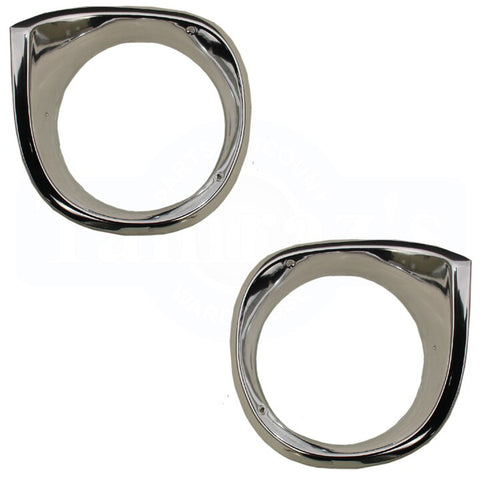 1962 - 1964 Chevy II Nova Headlight Bezels Pair