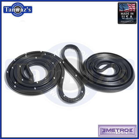 71-77 Vega Hatchback Door Weatherstrip Seals LM13 Metro New USA MADE