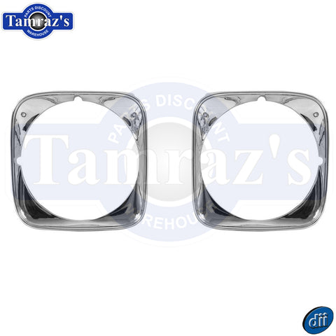 1971 71 Chevelle Malibu Headlamp Head Lamp Light Trim Bezels Pair