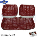 1966 66 Chevelle Front BENCH Seat Covers Upholstery Red CLEARANCE