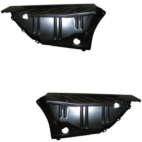 1970-1974 Challenger Trunk Floor Extensions Drop Off Pair LH RH New Golden Star