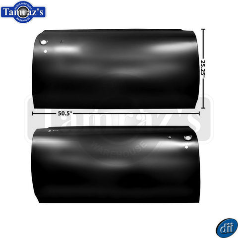 66-67 GTO / LeMans Door Outer Skin Panel ONLY - Dynacorn Brand  -  PAIR