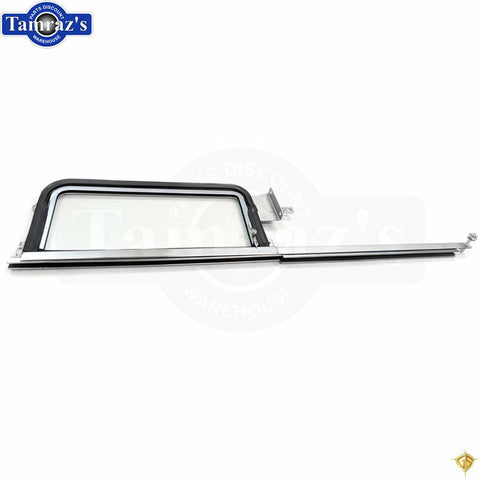 55-57 Chevy SEDAN & WAGON Door Vent CLEAR Glass Wing Window Frame ASSEMBLY - LH