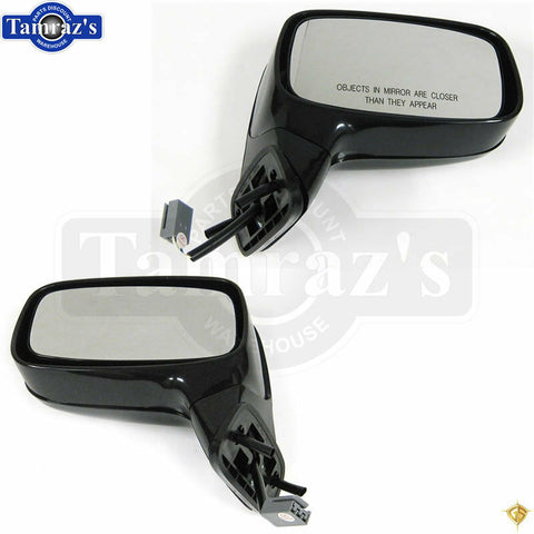 88-93 Mustang Conv't Outside Exterior POWER Door Mirror Housing Assembly - PAIR