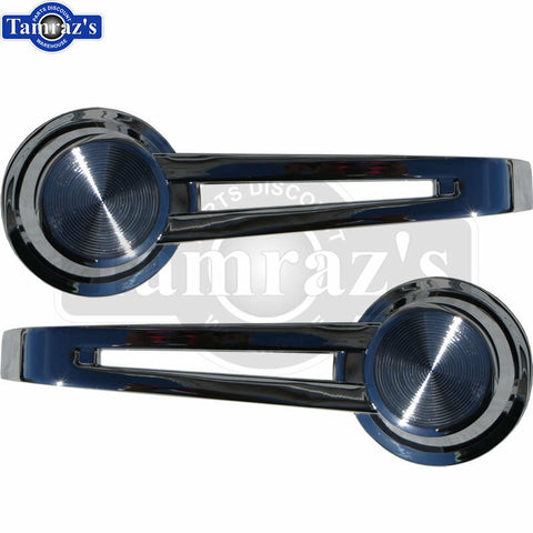 61-64 Bel Air 62-64 Nova Malibu Chrome Inside Door Release Handle - PAIR