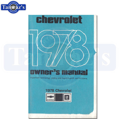 1978 78 Chevrolet Impala Caprice Owners Manual New