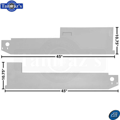 68-77 Ford Bronco Inner Floor Pan Rocker Panel - Dynacorn - PAIR