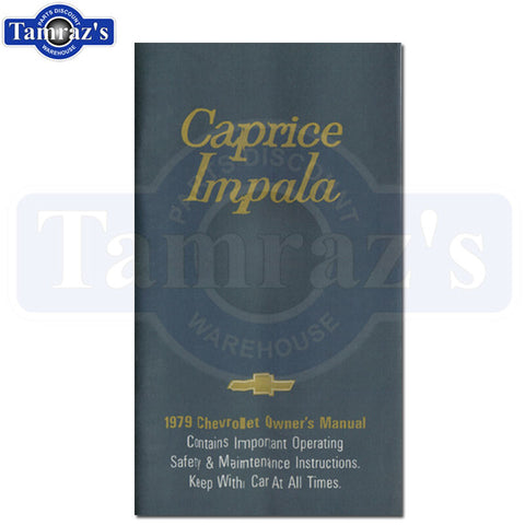 1979 79 Chevrolet Impala Caprice Owners Manual Bound New