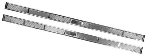 71-73 Mustang Door Sill Scuff Kick Plate STAINLESS STEEL Pair