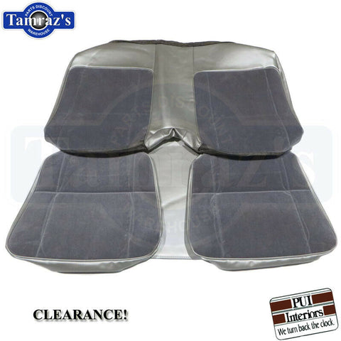 1980-1981 Camaro Berlinetta Rear Seat Upholstery Covers Silver PUI Clearance