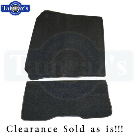 71-80 Pinto Rear Deck Carpet Black 80/20 Loop 2 Pieces New Clearance