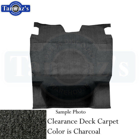 1982-1992 GM F-Body Carpet Cargo Deck Area Charcoal Cut Pile Clearance