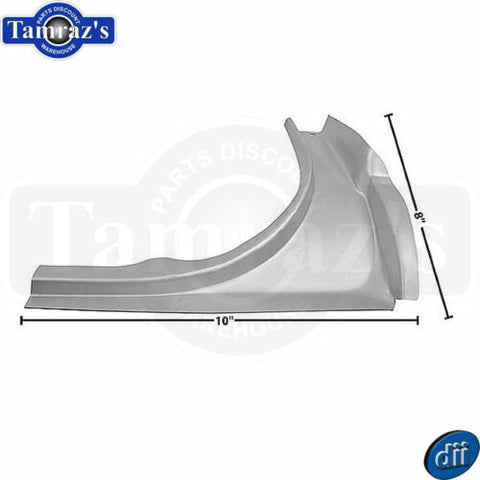 65-66 Mustang Trunk Jamb Weatherstrip Gutter Channel Lower Filler Panel - RH