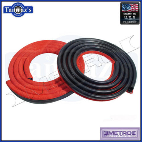 62-66 Mopar A & B Body Door Weatherstrip Seals 2 Door Sedan Red LM23HRED Metro