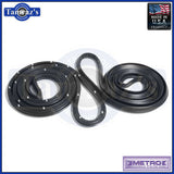 76-79 Seville Door Weatherstrip Seals Rear 4 Door Sedan LM18KR Metro USA MADE