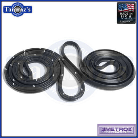64-65 GM A Body Door Weatherstrip Seals 2 Door Sedan LM12D USA MADE Metro