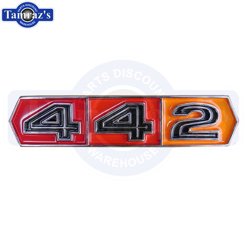 "1967 Cutlass "" 442 "" Tri Color Front Fender Emblem EACH NEW"