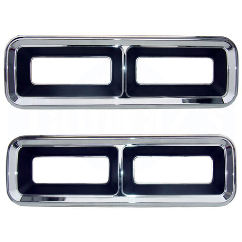 68 Camaro Tail Light Lamp Taillight Housing Bezel Trim GM Licensed - PAIR