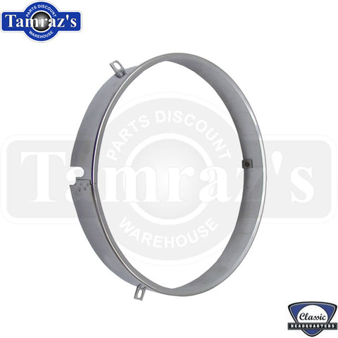 "69-73 Headlight Retainer Headlamp Retaining Ring 1"" Stainless Correct NOTCH Each"
