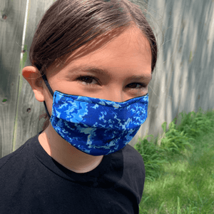 Tie-Dye Design Medical Style Mask Masked Family