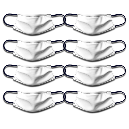 White Medical Style Mask Packs Masked Family Kid 8 Pack