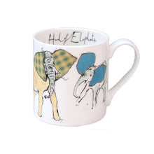 Load image into Gallery viewer, A Herd of Elephants Fine Bone China Mug