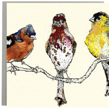 Load image into Gallery viewer, Finches Greeting Card