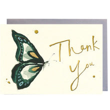 Load image into Gallery viewer, Thank You Green Butterfly Greeting Card