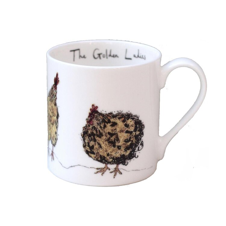 Golden Ladies Fine Bone China Mug