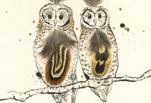 "Load image into Gallery viewer, ""Twitawoooo"" Small Signed Print"