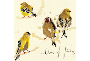 A Charm of Finches Greeting Card