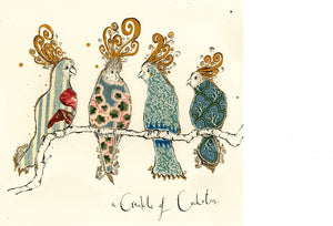 Crackle of Cockatoos Greeting Card