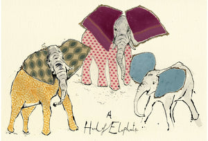 """A Herd of Elephants"" Small Signed Print"