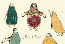 "Load image into Gallery viewer, ""A Parcel of Penguins"" Small Signed Print"