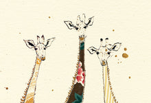 "Load image into Gallery viewer, ""A Tower ofGiraffes"" Small Signed Print"