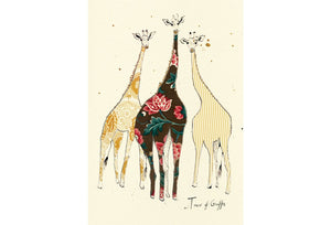 """A Tower ofGiraffes"" Small Signed Print"