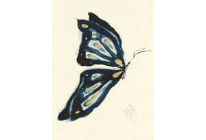 """Sapphire Butterfly""  Extra Mini Signed Print"