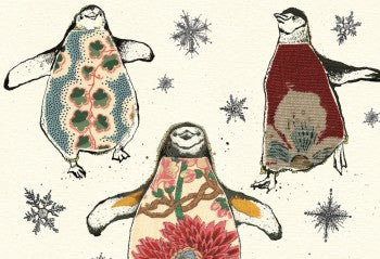 Christmas Penguins Greeting Card