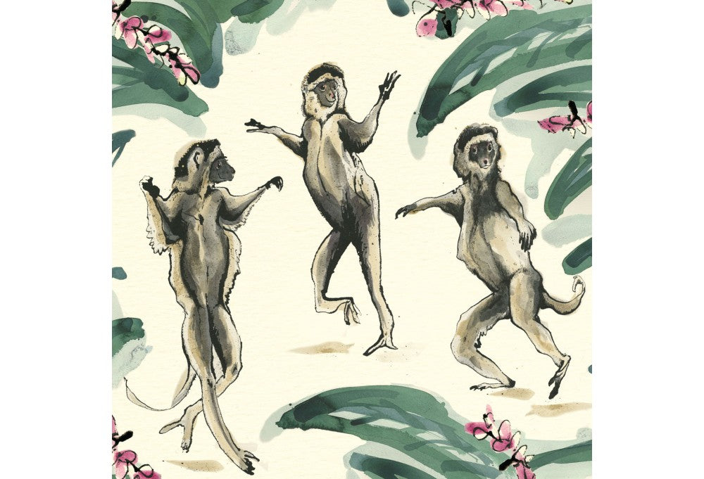 Dancing Lemurs Greeting Card
