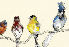 "Load image into Gallery viewer, ""Finches"" Small Signed Print"